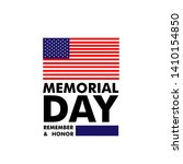 memorial day in united states.... | Shutterstock .eps vector #1410154850