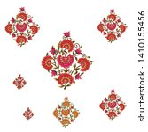 mughal flower motif bunch white ... | Shutterstock .eps vector #1410155456