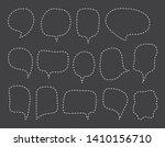 vector bubbles speech set. hand ... | Shutterstock .eps vector #1410156710