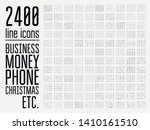biggest set 2400 of minimal... | Shutterstock .eps vector #1410161510