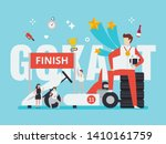 gokart racing illustration with ... | Shutterstock .eps vector #1410161759