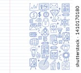 vector set of bussines icons in ... | Shutterstock .eps vector #1410170180