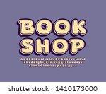 vector vintage sign book shop...   Shutterstock .eps vector #1410173000