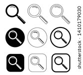 magnifying glass sign  search...   Shutterstock .eps vector #1410179030