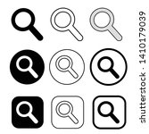 magnifying glass sign  search...   Shutterstock .eps vector #1410179039