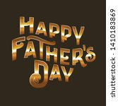 happy father's day  vector... | Shutterstock .eps vector #1410183869