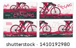 vector typographic bicycle... | Shutterstock .eps vector #1410192980