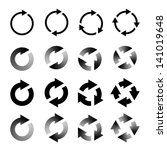 rotating arrows set. refresh ... | Shutterstock .eps vector #141019648