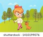 child walking in nature vector  ...   Shutterstock .eps vector #1410199076