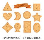 set of cracker chips different... | Shutterstock .eps vector #1410201866