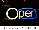 the led lights sign with... | Shutterstock . vector #1410206450