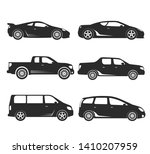 set of black silhouettes... | Shutterstock .eps vector #1410207959