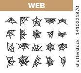 spider web  cobweb vector... | Shutterstock .eps vector #1410221870