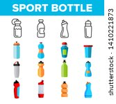 sport bottle  fitness accessory ... | Shutterstock .eps vector #1410221873