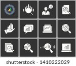 data analysis vector icon set.... | Shutterstock .eps vector #1410222029