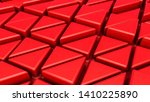 abstract red three dimensional... | Shutterstock . vector #1410225890