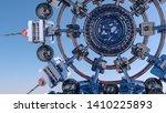 abstract futuristic three... | Shutterstock . vector #1410225893
