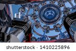 abstract futuristic three... | Shutterstock . vector #1410225896