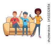 young people happy friends... | Shutterstock .eps vector #1410232856