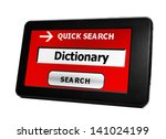 search for dictionary | Shutterstock . vector #141024199