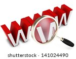 3d magnify glass  internet... | Shutterstock . vector #141024490