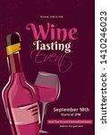 flat style wine tasting... | Shutterstock .eps vector #1410246023