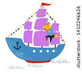 nautical hand drawn vector... | Shutterstock .eps vector #1410246626