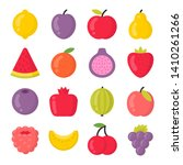 sweet fruits isolated colorful... | Shutterstock .eps vector #1410261266