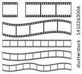 film strip frame or border set. ... | Shutterstock .eps vector #1410263006