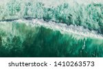 Aerial Wave Background. Drone...