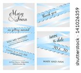 wedding invitation  thank you... | Shutterstock .eps vector #141026359