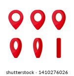 set of vertical rotation red... | Shutterstock .eps vector #1410276026