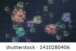 big data complexity visual... | Shutterstock .eps vector #1410280406