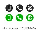 phone icon vector. set of flat... | Shutterstock .eps vector #1410284666