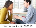 woman having counselling session | Shutterstock . vector #141030913