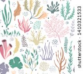 vector seamless pattern with... | Shutterstock .eps vector #1410321533