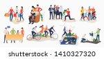 set of family activities.... | Shutterstock .eps vector #1410327320