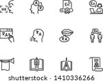 language learning line icon set.... | Shutterstock .eps vector #1410336266