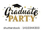 graduate party greeting sign... | Shutterstock .eps vector #1410344303