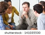 meeting of support group | Shutterstock . vector #141035530