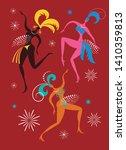 dancing women   carnival... | Shutterstock .eps vector #1410359813