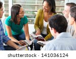 bible group reading together | Shutterstock . vector #141036124