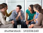 meeting of support group | Shutterstock . vector #141036160