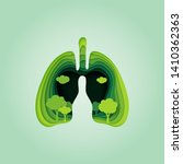 lung and heart of nature... | Shutterstock .eps vector #1410362363