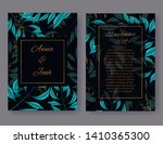 wedding invitation card front... | Shutterstock .eps vector #1410365300