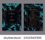 wedding invitation card front... | Shutterstock .eps vector #1410365300
