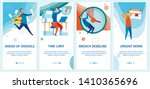 set ahead shedule  time limit ... | Shutterstock .eps vector #1410365696