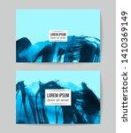 set of vector business card... | Shutterstock .eps vector #1410369149