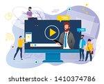 office situation webinar vector ... | Shutterstock .eps vector #1410374786