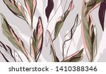 floral palm leaves pattern.... | Shutterstock .eps vector #1410388346
